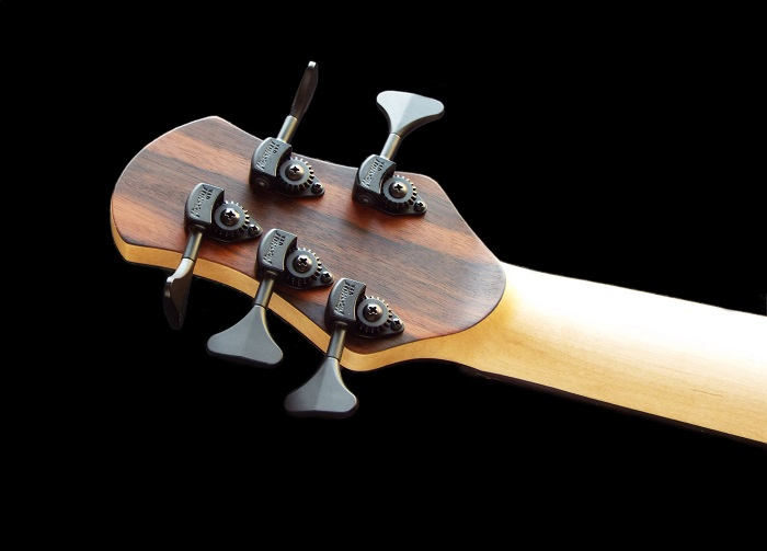 custom bass headstock